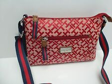 TOMMY HILFIGER Woman's XBody Messenger Bag *Red/Navy Muti *Shoulder Purse $69