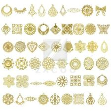 Metal Links Pendants Charms Filigree Jewelry Flower/Round/Oval/Square/Teardrop