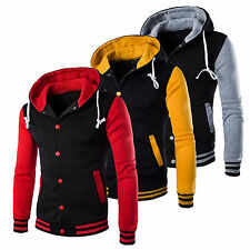 Men's Coat Jacket Outwear Sweater Winter Slim Hoodies Warm Hooded Sweatshirt Top