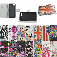 Protective Stand Flip PU Leather Card Holder Wallet Cover Case for Apple iPhone