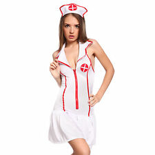 Ladies Naughty Nurse Outfit Costume Fancy Dress Medical Cosplay Uniform Outfit