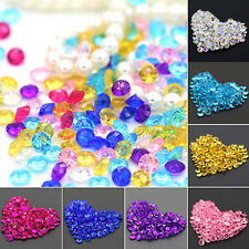 2000Pcs New Wedding Decoration Scatter Table Rhinestone Acrylic Confetti Mirable