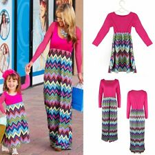 Family Style Mother and Daughter Matching Clothes Long Boho Beach Dresses Newest