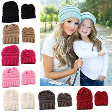 Mommy&Kids Knitted Wool Hat Winter Warmer Baby Cap Girl Boy Knit Crochet Hats