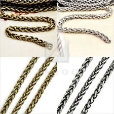 6.56 feet 2M/pcs Unfinished Curb Chains Necklaces Pendants 4x4mm Silver Brass