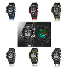 Sport OHSEN Digital Time LED Backlight AM PM Date Womens Silicone Wrist Watch