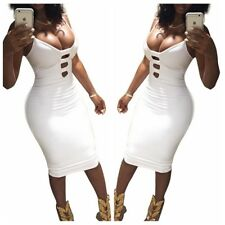 Women Bandage Bodycon Sleeveless Evening Party Cocktail Clubwear Midi Dress