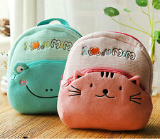 Cute Cartoon Schoolbag Children Kids Kindergarten Plush Backpack Shoulder Bag