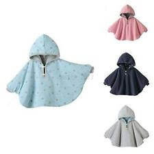3-24M Baby Boys Girls Winter Warm Cotton Hooded Cloak Poncho Cape Jacket Clothes