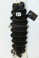 120g Deluxe Thick  Deep Weft Hair Curly Weaving Real Human Hair Extensions Black