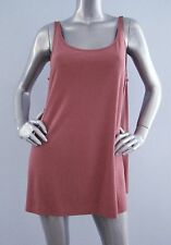 Nwt Eileen Fisher $148 Sandstone Stretch Silk Jersey Scoop Neck Tunic Blouse PL