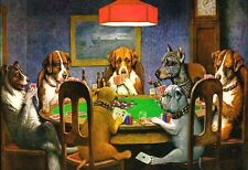 Dogs Playing Poker - Animal Poster Print - Classic Painting - Wall Art - Basset