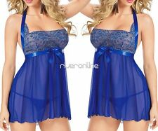 Sexy Womens Nightwear Lingerie Lace Dress Underwear Babydoll Sleepwear G-string