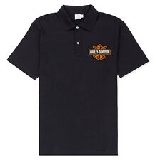 Harley-Davidson Men's Bar & Shield Logo Short Sleeve Polo Shirt, Black