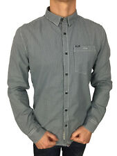 *SALE £41 /Superdry Mens New England Dress Long Sleeved Shirt in Micro Gingham