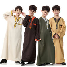 Boys Kids Saudi Thobe, Jubba, Arab Robe, Dishdasha Islamic Clothing