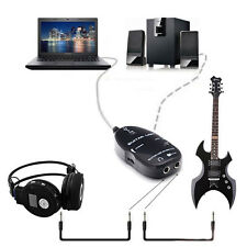 Interface USB Audio Link For MAC/PC MP3 Recording XP Electric Guitar To Cable