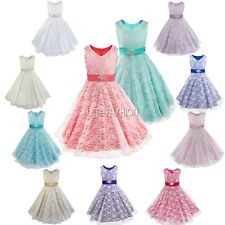 Flower Girls Dress Pageant Bridesmaid Wedding Prom Party Ball Gown Formal Dress