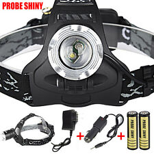 5000lm Zoom XM-L 2xT6 LED Rechargeable 18650 Headlamp Headlight Light Torch New