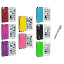 For iPhone 5C Chrome Bling Lace Luxury Hybrid Hard Case Cover+Metal Pen