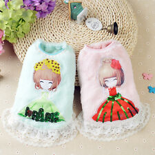 Cute Dog Dress Pet Clothes for Girl Dog Winter Coat Jacket Teacup Dog Chihuahua