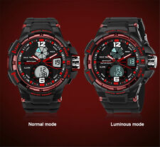 New Mens Quartz Wrist Watch LCD Digital Analog Military Army Sport Waterproof