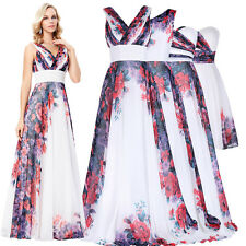 Formal Short Long Bridemaid Formal Prom Party Gown Floral Evening Cocktail Dress