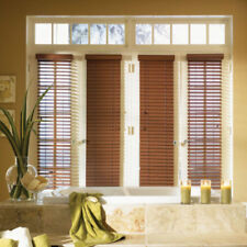 "SET OF 2 - 2"" FAUXWOOD BLINDS 9"" WIDE x 24"" to 36"" LENGTHS - 5 GREAT COLORS!"
