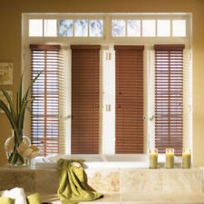 "SET OF 2 - 2"" FAUXWOOD BLINDS 9"" WIDE x 49"" to 60"" LENGTHS - 5 GREAT COLORS!"
