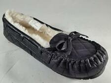 Girls Youth SONOMA KADY Black Sparkle Moccasins Loafers Slippers Shoes New