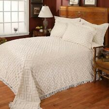 Cotton Chenille bedspread,tufted,coverlet,white,ivory,twin,full,queen,king sizes