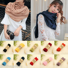 Stylish Womens Scarves Long Soft Cotton Voile Scarf Wrap Shawl Stole 65*180CM