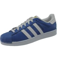 Adidas Superstar men's casual shoes blue/white retro-style sneakers NEW
