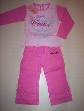 Set baby girl jersey t-shirt trousers cotton 18 24 30 months