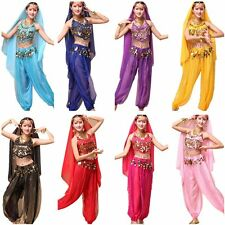 NEW Belly Dance Costume Bra Top Set Bollywood Indian dancing Skirt Clothes Pants
