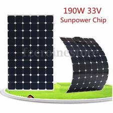 190W 33V Flexible Solar Panel Battery Charger w/1.5m Cable For Boat Caravan Home