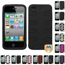 For Apple iPhone 4/4S Hybrid IMPACT Hard Soft Rugged Armor Case Cover