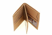 Mens Euro Hipster Wallet Genuine Leather Center Flap Picture Window Cowhide New