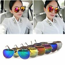 Men Women Metal Frame Polarized Sunglasses Eye Glasses Mirrored Eyewear CB