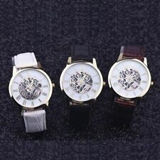 Style Digital Analog Quartz Wrist Watches Stainless Steel Leather Band