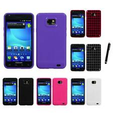 For Samsung Galaxy S2 i9100 TPU Rubber Skin Flexible Case Phone Cover Stylus Pen