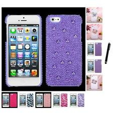 For Apple iPhone 5/5S/SE Diamond Bling Rhinestone Case Phone Cover Stylus Pen
