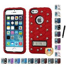For iPhone 5/5S/SE Rugged Shockproof Defender IMPACT Armor TUFF Case Stylus Pen