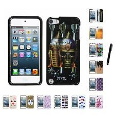 For Apple iPod Touch 5th 6th Gen Design Snap-On Hard Case Phone Cover Stylus Pen