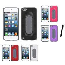 For Apple iPod Touch 5th 6th Gen Hybrid Toungue Kickstand Impact Case Stylus Pen