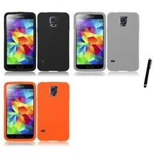 For Samsung Galaxy S5 Silicone Skin Soft Rubber Case Phone Cover Stylus Pen