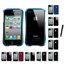 For Apple iPhone 4/4S Surround Shields Hard Bumper Slim Case Cover Stylus Pen