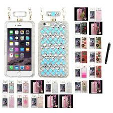 For iPhone 6/6S Plus [5.5] Diamond Diamante Bling Rhinestone Case Stylus Pen