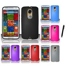 For Motorola Moto X (2014) TPU Rubber Flexible Case Skin Phone Cover Stylus Pen