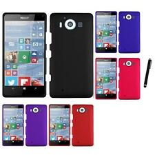 For Microsoft Lumia 950 Rubberized Matte Snap-On Hard Case Cover Stylus Pen